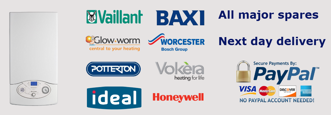 Boiler spares next day delivery with paypal secure payments